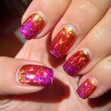 gel nails with encapsulated nail foil actually pretty easy for