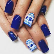 acrylic nails blue designs how you can do it at home pictures