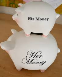 his and hers piggy bank the material girl my corner of the world