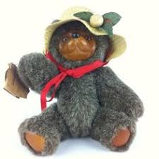 wooden faced teddy bears robert raikes applause teddy plush stuffed animal wooden