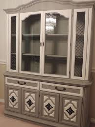 Dining Room With China Cabinet by 1950 U0027s Dining Set Makeover Hometalk