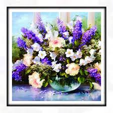 online get cheap vase with flower acrylic painting aliexpress com