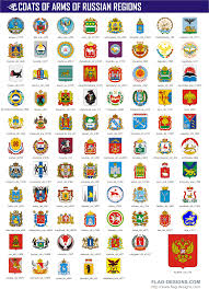 coats of arms of russian regions vector clipart vector images