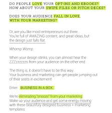 Business Idea Pitch Template Business In A Box Business And Marketing Templates For Busy People