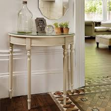 half circle accent table sofa tables small half moon tables white round console table office
