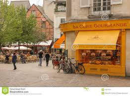 cuisine rue du commerce place plumereau tours editorial photography image of