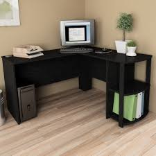 ameriwood l shaped desk black best home furniture decoration