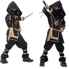 Halloween Costume Boys Q228 Kids Ninja Costumes Halloween Party Boys Girls Warrior