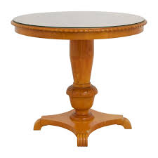 glass top for table round 86 off antique round wood dining table with glass top tables