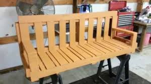 How To Make Patio Furniture Out Of Pallets by How To Make Pallet Porch Swing Diy Homemade Youtube