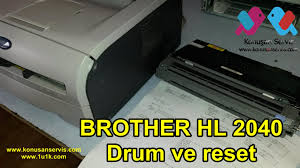 brother printer drum light brother hl 2040 drum reset youtube