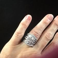 Zales Wedding Rings by 1 Ct T W Round And Baguette Diamond Wrap Guard In 14k White Gold