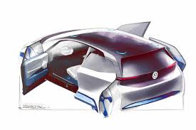 volkswagen electric concept volkswagen electric vehicle shown in new design sketches autocar