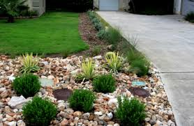 Landscaping Ideas Small Area Front Landscape Rock Ideas Christmas Lights Decoration