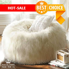 sofa set faux fur lounge chair living room furniture luxe bean bag