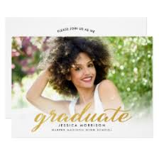 graduation announcment gold graduation invitations announcements zazzle