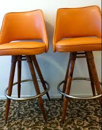 modern orange bar stools new vintage bar stools for mid century pair orange naugahyde vinyl