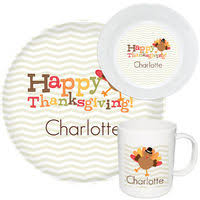 personalized thanksgiving dinnerware plates mugs placemat