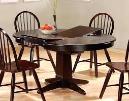 espresso dining table with leaf round kitchen table with leaf dining extension wooden and chairs
