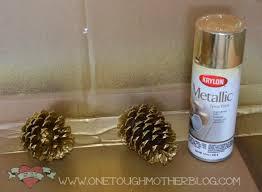 simple diy gold pinecone ornaments sweet tea saving grace