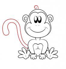 cartoon drawing of a monkey cartoon drawings of monkeys drawing
