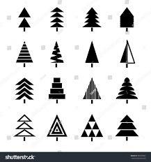 vector illustration christmas trees spruce tree stock vector