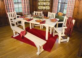 Log Dining Room Sets by Rustic Cabin Dining Of Natural Cedar Logs