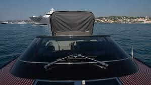 Awning Boat Mechanical Movement Opens Boat Awning On Luxury Vintage Looking