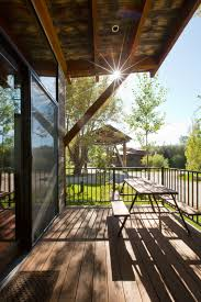tiny house deck test out tiny house living at one of these nature immersed cabin