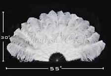 feather fan white ostrich feather fan ebay