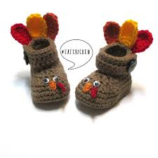 baby turkey thanksgiving crochet baby turkey booties fall baby booties for