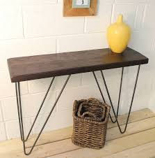 Steel Console Table Industrial Wood And Steel Console Table By Möa Design