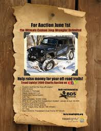 tread lightly jeep wrangler discount bds supports tread lightly charity auction bds