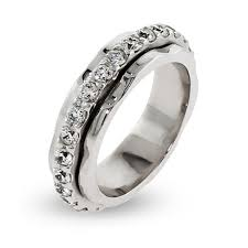 ring spinner silver spinner ring with cz band s addiction