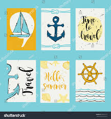 yacht anchor vector design templates journal stock vector