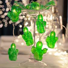 green led string lights green led string lights cactus battery powered lights ie