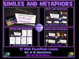 similes and metaphors bundle powerpoint lesson set of 16