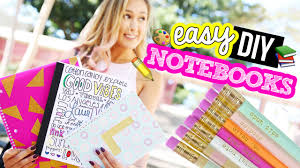Diy Hacks Youtube by Diy Notebooks For Back To 2016 Laurdiy Youtube