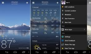 yahoo apps for android yahoo weather app now brings near term weather alerts android