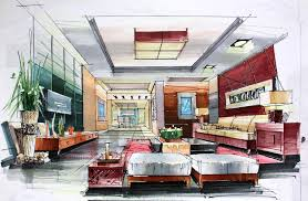 great free hand drawing interior design 12 for your online design
