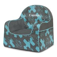 Personalized Kid Chair P U0027kolino Little Reader Planes Personalized Kids Foam Chair With