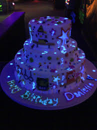 glow in the birthday party 80s neon birthday cake by christies creations facebookcom glow in