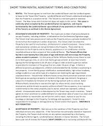 13 short term rental agreement templates u2013 free sample example