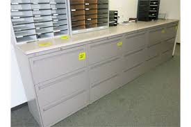 lot 10 hon 3 drawer lateral file cabinets with countertops