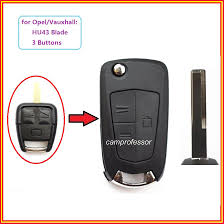 vauxhall vectra logo new folding remote control key shell case fob 3b for vauxhall opel