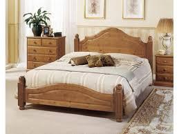 Vintage King Bed Frame Vintage King Size Bed With Wooden Material Plus Smooth