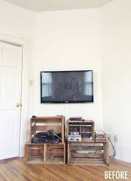 Ikea Restyle Modern Hollywood Regency by Tv Wall Before After U2013 A Beautiful Mess