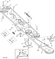 what is the belt diagram for a deere stx38 yellow deck