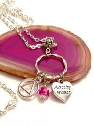woman necklace holder images Alcoholics anonymous jewelry serenity fly recovery gifts jpg