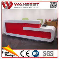 Acrylic Reception Desk Used Daycare Furniture Sale Foldable Luxury Table Acrylic Solid